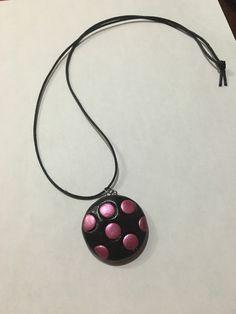 Handmade terracotta pendant chain(Black, pink) by Riyaterracotta on Etsy https://www.etsy.com/listing/267700838/handmade-terracotta-pendant-chainblack