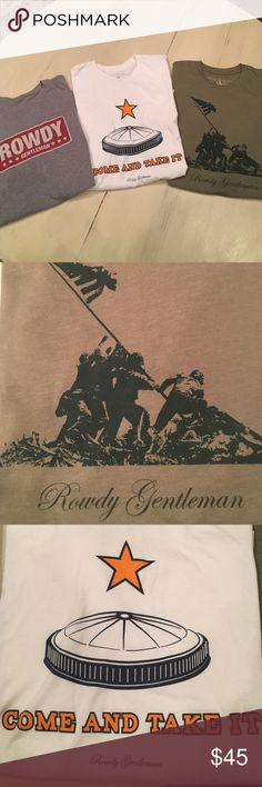 3-Rowdy Gentleman T-Shirts 3-Rowdy Gentleman T-Shirts in EUC Rowdy Gentlemen  Shirts Tees - Short Sleeve