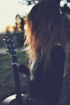 a girl and her guitar