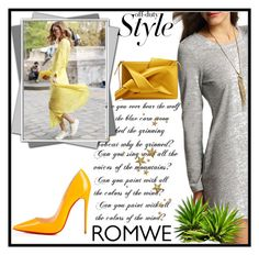 """""""Romwe"""" by xyfbj ❤ liked on Polyvore featuring Christian Louboutin and N°21"""