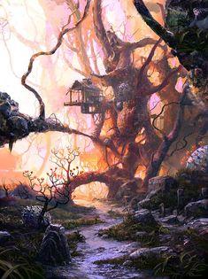 """Road"" by DeviantArt artist VityaR83 #painting #surreal #fantasy #FantasyLandscape"