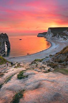 Sunset in Dorset, England, UK