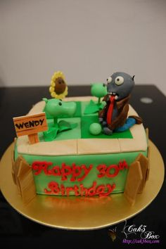 Plants Vs Zombies Cake Frosted