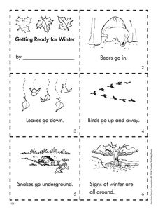 """Getting Ready for Winter"" Mini-book (free )"