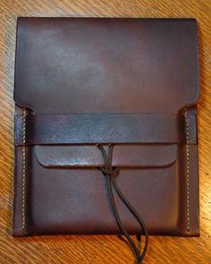 Natural leather iPad Mini case by MuleSkinnerBags on Etsy
