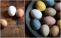 naturally dyed eggs!