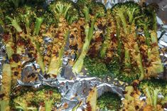 Roasted Broccoli with Pepperoni Breadcrumbs - 3 Points+