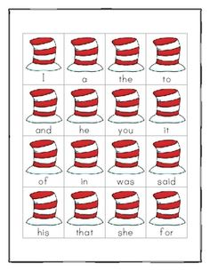 Sight Word Stamping with Dr. Seuss (Word Work)