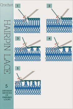 hairpin lace Tutorial for Crochet, Knitting. Hairpin Lace Crochet, Shawl Crochet, Hairpin Lace Patterns, Crochet Diagram, Crochet Chart, Filet Crochet, Crochet Motif, Diy Crochet, Broomstick Lace Crochet