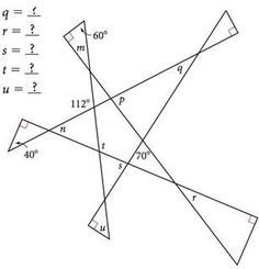 Looks like a good puzzle for angle relationships – Ideen finanzieren Teaching Geometry, Teaching Math, Teaching Spanish, Math Worksheets, Math Resources, Geometry Worksheets, Printable Worksheets, Fun Math, Math Games
