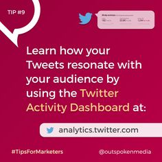 Twitter Marketers: Measure Twitter success with the Tweet Performance insights section of Twitter analytics #tipsformarketers #twittermarketing #socialmediastrategy Marketing Tools, Social Media Marketing, Digital Marketing, Pinterest Marketing, Insight, Success, Ads, Learning, Twitter