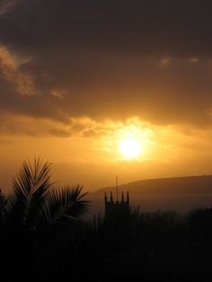 Watching the sun set over Mounts Bay from my garden at Ednovean Farm.