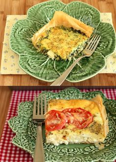 Spinach and Tomato Phyllo Tarts