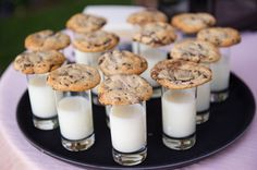 Cookies and milk shots are the best late-night wedding snack | Theilen Photography