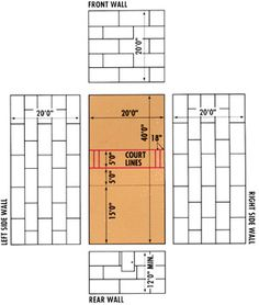 Metal building with a basketball court stuff i plan on for Racquetball court diagram