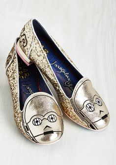 Irregular Choice Thank the Maker Flat in C-3PO