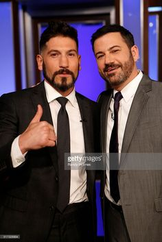 LIVE - 'Jimmy Kimmel Live' airs every weeknight at 11:35 p.m. EST and features a diverse lineup of guests that include celebrities, athletes, musical acts, comedians and human interest subjects, along with comedy bits and a house band. The guests for Wednesday, March 23 included Kristen Bell ('The Boss'), Jon Bernthal ('Daredevil') and musical guest LOCASH. (Photo by Randy Holmes/ABC via via Getty Images)JON