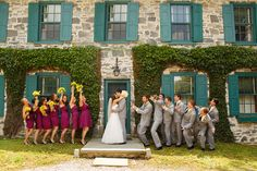 Like the colors? summer sangria yellow and gray wedding