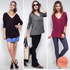 Peça chave para um look meia-estação! Amamos com calça skinny, legging ou saia <3 #mybasiclook #blusacolonia