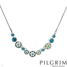 PILGRIM Crystal Necklace from Contemporary Designer Jewelry Pilgrim Jewellery, Designer Jewelry Brands, Jewelry Branding, Crystal Necklace, Jewelry Stores, Turquoise Necklace, Jewelry Design, Gemstones, Contemporary