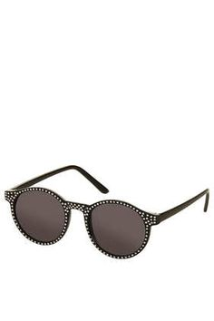 48ef670dcf6e1c ASOS Round Sunglasses with Metal Bridge Detail and Mirrored Lens ...