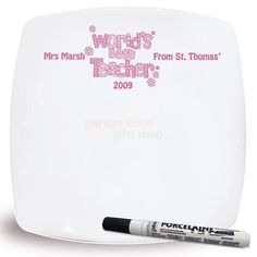Personalised Worlds Best Teacher Message Plate - For Her  from Personalised Gifts Shop - ONLY £24.95