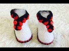 Passo a passo Conjunto crochê Joaninha Newborn | Professora Simone - YouTube Crochet Bebe, Crochet For Kids, Slippers, Baby Boots, Barbie, Children, Clothes, Shoes, Diy