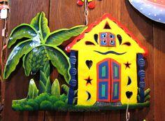 Yellow Beach House Metal Wall Art Recycled Tropical Decor for Sea / Ocean Theme Alfresco Area, Happy Year, Ocean Themes, Sea And Ocean, Tropical Decor, Metal Wall Art, Beach House, Recycling, Christmas Ornaments