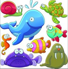 Download Free Cute Cartoon Marine Life Animals Vector Illustration 03 under the free Vector Cartoon category(ies) at TitanUI.CoM!