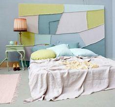 Schlafzimmer Bett Kopfteil selber machen Polsterung
