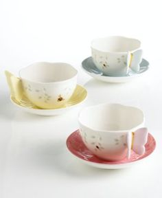 Lenox Dinnerware, Butterfly Meadow Cup and Saucer Set  SO cute for tea for the in-laws :)  and from Lenox - too perfect!!