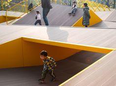 The Folds – A Topographic Sensation by Lab D+H « Landscape Architecture Platform Landscape And Urbanism, Landscape Design, Garden Design, Mosque Architecture, Architecture Design, Playground Design, Skate Park, Urban Design, Backyard Landscaping