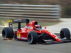 French-Sicilian driver Jean Alesi in his debut season with Ferrari.