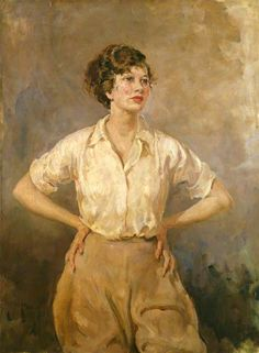 Dame Wendy Margaret Hiller c. 1935 by Thomas Cantrell Dugdale (British 1880–1952)