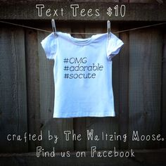 cool hashtag toddler tee  Hand painted The Waltzing Moose  facebook.com/thewaltzingmoose
