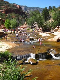 Favorite place to be during Summer in Arizona. Slide Rock state park. A long set of rocks that make perfect natural waterslides. Even more beautiful in the Winter