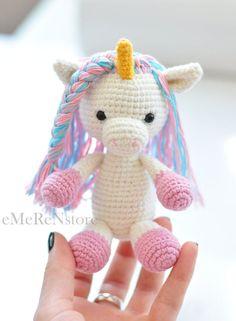 Cute Unicorn pattern,amigurumi pattern,unicorn pattern,crochet animals,PDFpattern,crochet toy pattern,amigurumi unicorn pattern,easy pattern by EmerensLove on Etsy