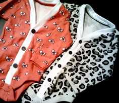 Baby Cardigan Onesie - Leopard Print Baby Girl Sweater - Perfect for a Fall or Winter Baby Shower Gift.