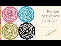 Crochet paso a paso: trenzas de vainillas en circular (incluye diagramas...