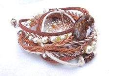 Bohemian Multi Stack Wrapping Bracelet, by AllStrungOut925