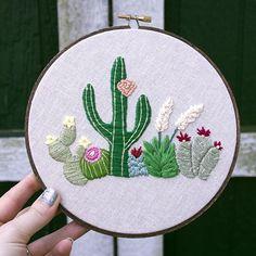 Desert Landscape . Hand Embroidery