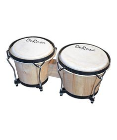 Look at this Natural De Rosa Solid Wood Double Bongo Drum on #zulily today!