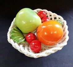 Pedestal, Free Delivery, Porcelain, Basket, Pottery, Vegetables, Fruit, Antiques, Shop
