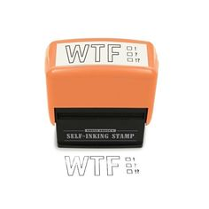 WTF Stamp – Black from Slapstick Stationery - (Save Weird Gifts, Funny Gifts, Self Inking Stamps, Laugh Out Loud, Make Me Smile, I Laughed, Things I Want, Happy Things, Hilarious