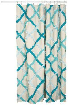 Danica Studio Unisex Ruffle Shower Curtain Multi