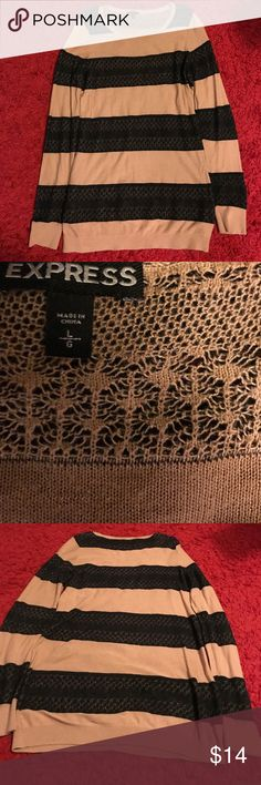 EXPRESS black and brown tunic size large EXPRESS brown and black tunic long sleeve size large Express Tops Tunics
