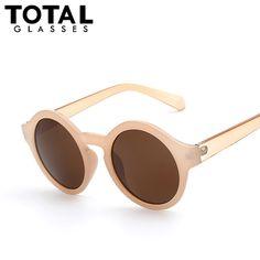 Barato Rodada Círculo Óculos De Sol Das Mulheres Retro Vintage óculos de Sol  para As Mulheres 6e50b92362