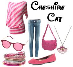 CHESIRE CAT!!!!  THIS SITE DOES OUTFITS BASED ON DISNEY CHARACTERS