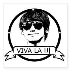 """Viva La Bi RAIN!!! Square Sticker 3"""" x 3"""" on CafePress.com"""