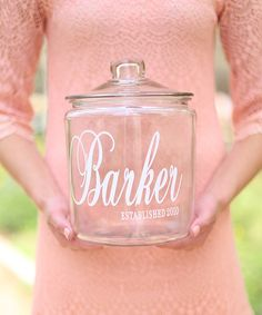 Another great find on #zulily! Personalized Family Cookie Jar #zulilyfinds